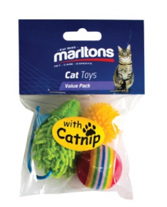 MARLTONS PLAY PACK WITH CATNIP 3PK