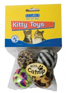 MARLTONS PLAY PACK BALLS WITH CATNIP 4PK