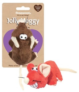 ROSEWOOD JOLLY MOGGY CHEEKY MOUSE WITH CATNIP EA