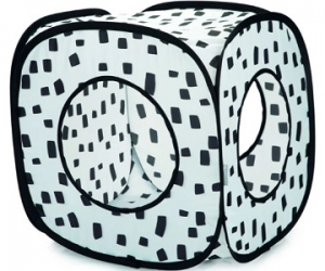 BEEZTEES LUPO PLAY HOUSE BLACK & WHITE 35X35X35CM