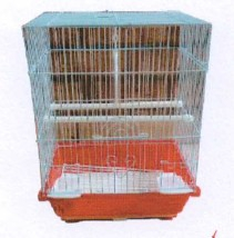 AKWA FLAT-TOP BIRD CAGE ASSTD. 23X30X39CM