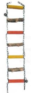 BIRRDEEEZ 7-STEP PARROT WOOD & CHAIN BRIDGE 76CM