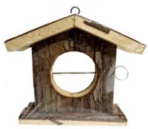 DARO NATURAL WOOD BIRD FEEDER HOUSE