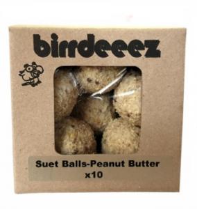 BIRRDEEEZ WILD SUET BALLS W/ PEANUT BUTTER 10X85G