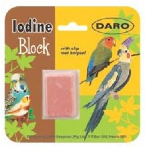 DARO IODINE MINERAL BLOCK WITH CLIP 5.4X3.7X3CM