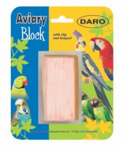 DARO AVIARY MINERAL BLOCK WITH CLIP 9X6.5X3CM