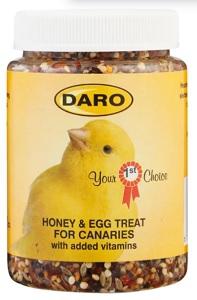 DARO CANARY TREATS HONEY & EGG 180G