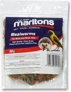 MARLTONS MEALWORMS FOR BIRDS AND OTHER PETS 100G
