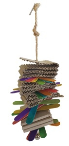 AKWA STACKED SHREDDING TOY WITH BELL 40CM