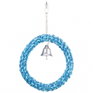 MARLTONS ROPE RING WITH BELL ASSTD. 19CM