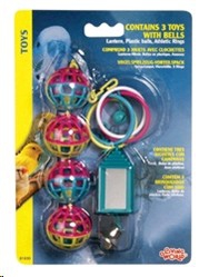 LIVING WORLD MIRROR, ATHLETIC RINGS & BELLS SMALL