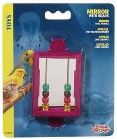 LIVING WORLD MIRROR WITH BEADS SMALL