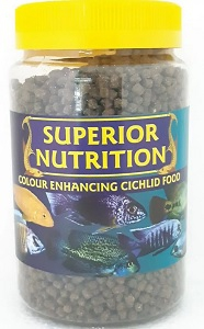 SUPERIOR NUTRITION CICHLID PELLETS MEDIUM 4MM 225G