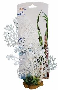 AKWA FILIGREE WHITE PLASTIC PLANT 18CM