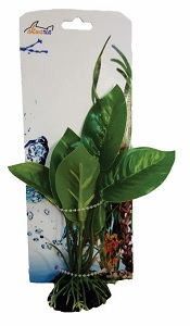 AKWA GREEN NARROW-LEAF PLASTIC PLANT 16CM