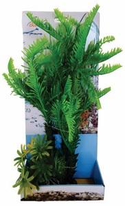AKWA GREEN PALM & SHRUB PLASTIC PLANT 36CM