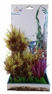 AKWA MIXED COLOURS SHRUB PLASTIC PLANT 23CM