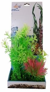AKWA MIXED LEAF SHRUB PLASTIC PLANT 23CM