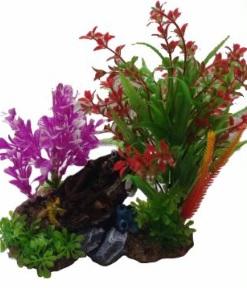 DARO DECOR PLANT & SHIPWRECK REEF 20X15X8CM