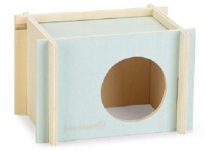 BEEZTEES WOODEN RODENT HOUSE SMALL 17X12X11CM