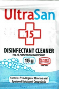 ULTRASAN DISINFECTANT SACHET 500X15GR