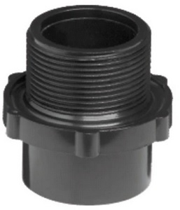 QUALITY FILTER TANK FITTING MALE 40MM TH 50MM GLUE