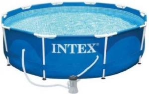 INTEX METAL FRAME POOL & PUMP 366X76CM