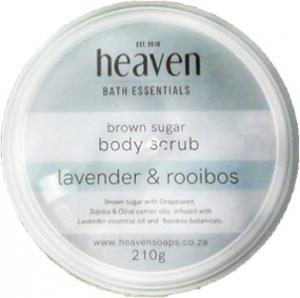 HEAVEN BODY SCRUB LAVENDER & ROOIBOS 210G