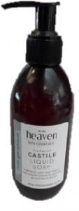 HEAVEN LIQUID CASTILE SOAP ROSE GERANIUM 200ML