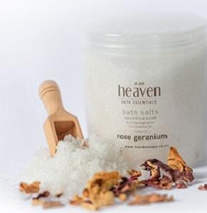 HEAVEN BATH SALT GERANIUM ROSE 450ML