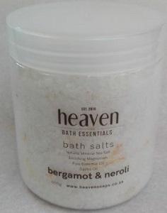 HEAVEN BATH SALT NEROLI & BERGAMOT 450ML