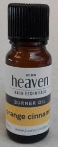 HEAVEN ESSENTIAL BURNER OIL ORANGE & CINNAMON 10ML