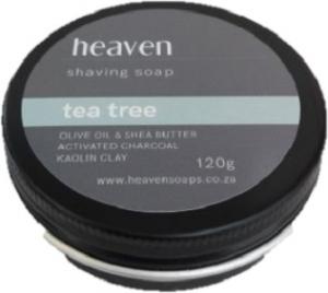 HEAVEN SHAVING SOAP TIN TEA TREE 120G