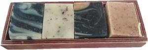 HEAVEN NATURAL ARTISAN SOAP 4-PIECE SET ASSTD.