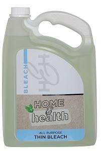 HOME & HEALTH ALL PURPOSE THIN BLEACH 5LT